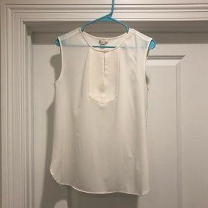 J Crew Sleeveless white blouse size 8